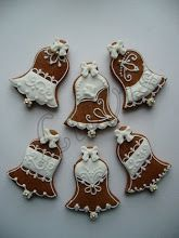 Christmas Biscuits, Christmas Sugar Cookies, Christmas Desserts, Gingerbread Cookies, Crazy Cookies, Iced Cookies, Royal Icing Cookies, Christmas Bells, Rustic Christmas
