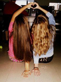 Bestfriend picture ♥ blonde & burnett :) @Jackie Stubblefield