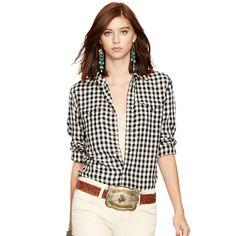 Slim Western Shirt - Long-Sleeve  Tops & Polos - RalphLauren.com