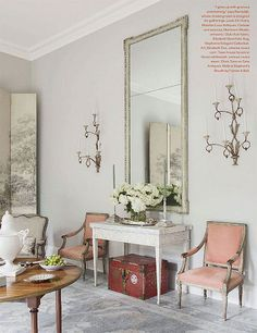 the pair of pale pinkish chairs, to die for