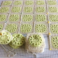 elisabethandree crochet blocking squares