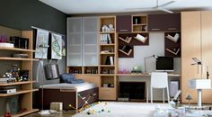 Kids Room: Awesome Simple Loft Beds Made From Solid Steel With Grey on