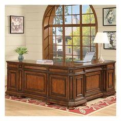 Riverside Furniture Cantata L Shaped Desk and Return | Wayfair