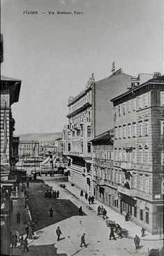Rijeka / Fiume - Via Verdi - 1930-tih