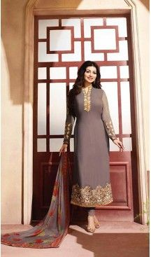 Chocolate Color Georgette Straight Suit Wear To Celebrity Ayesha Takia #pakistani , #evening , #dress , #heenastyle , #party , #wear , #anarkali , #salwar , #kameez , #dupatta , #churidar , #suit , #fashion , #online , #shopping , #casual , #designer , @heenastyle , #store, #shop , #boutique , #straight , #georgette , #fabric , #readymade #ethinic #formal , #punjabi , #patiyala , #gowns , #plazzo