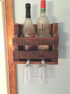 2 Bottle Wine Rack Pallet Decor Reclaimed by DuffsDecorAndMore