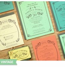 Vintage Rustic Plantable Paper Wedding Collection on Post-Consumer Seeded Paper. Invitations, RSVP, Thank Yous, Menu Cards, Place Cards, Favor Tags. #Weddings Daisy-Days.com