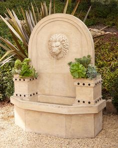 Shop Lion-Head Wall Fountain at Horchow, where you'll find new lower shipping on hundreds of home furnishings and gifts. Garden Fountains Outdoor, Water Fountains, Garden Ponds, Garden Water, Outdoor Walls, Outdoor Decor, Outdoor Living, Outdoor Stuff, Outdoor Ideas