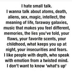 small talk for small minds