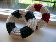 Imaginary Wardrobe: Crocheted Life Belt  Maybe make a ring with this pattern for Brayden to chew on?!