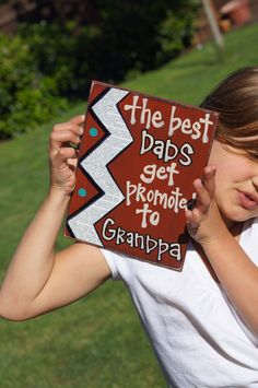 Best dad's get promoted to grandpa card. great gift for when I start having kids!
