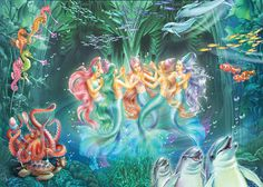 Mermaids Danicing Photograph