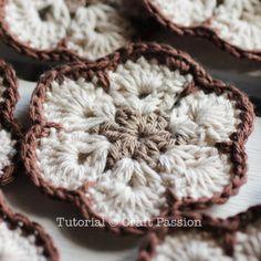 crochet african flower motif
