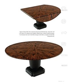 Fold down circle table.
