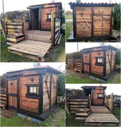 Amazing ideas for wooden pallet projects Simple pallet projects and ideas for DIY wooden pallets.We can never forget to add an idea for children. This is a good thing and the idea is attractive because Pallet Decking, Pallet Shed, Pallet House, Outdoor Pallet, Backyard Pallet Ideas, Pallet Barn, Pallet Ideas Easy, Pallet Garden Furniture, Pallets Garden