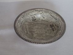 Silver Decoupaged Bowl  Entrance Hall Key Dish  by AtticJoys1, $14.00