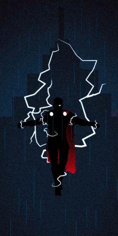 God of Thunder, superhero, silhouette, Thor wallpaper Marvel Art, Marvel Heroes, Marvel Movies, Marvel Avengers, Thor Superhero, Marvel Characters, Iron Man Wallpaper, Avengers Wallpaper, Superhero Silhouette