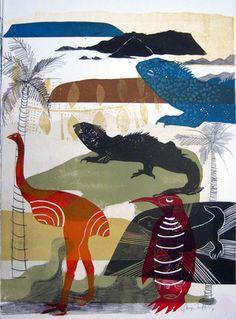 Sheyne Tuffery, 'island life' Collagraph, Maori Art, Island Life, Print And Cut, Letterpress, New Art, Printmaking, Screen Printing, Mineral
