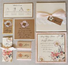 peach wedding invites. IN LOVE.