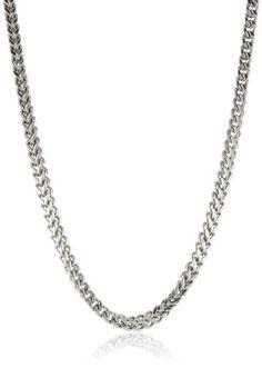 TOPSELLER! Men`s Stainless Steel Thin Foxtail Ne... $26.00