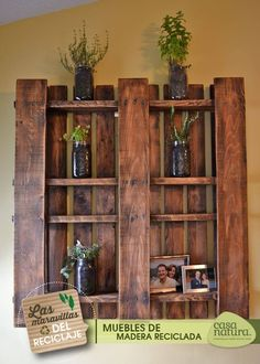 Recycle old wood! Recicla madera vieja #MiCasaNatura #reciclados #upcycle