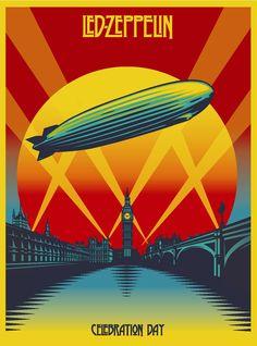 Celebration Day is a concert film by Led Zeppelin, recorded on 10 December 2007, at London's O2 Arena. Prior to being released on several home video formats in November 2012, the film was shown in theaters in October. The performance, captured at the Ahmet Ertegun Tribute Concert, the film, and the home video album release have been widely praised. Love it!