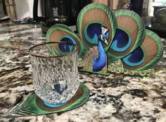 Peacock Coasters From Green Tree Jewelry Peacock Decor, Peacock Colors, Peacock Art, Peacock Theme, Peacock Feathers, Peacock Room, Peacock Bedding, Peacock Christmas, Peacock Jewelry