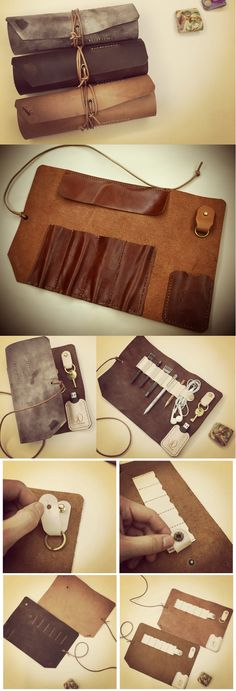 20 DIY Pencil Case Ideas + Genuine Leather Roll Up Pen Pencil Case Universal Cable Cord Travel Organizer and Key Holder  ,Back to school will be more fun if you have a new pencil place. You can make your own DIY pencil case. You do not have to buy in the store to get it.