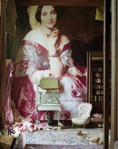 Glemham Hall, Portrait of Baroness James de Rothschild (1848) by Ingres. -Tim Walker
