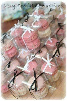 clearn macaron bombonieres gift idea*