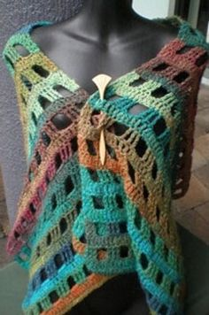 Noro crocheted stole...I've made one; easy to do and quite pretty