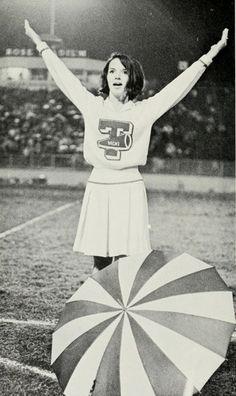 Cheerleader Vicki Mosely in 1968