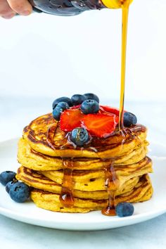Easy Fluffy Buttermilk Pancakes From Scratch Buttermilk Pancakes Easy, Homemade Buttermilk, Fluffy Pancakes, Pancake Muffins, All You Need Is, Pancakes From Scratch, Cauliflower Dishes, Breakfast Recipes, Breakfast Ideas
