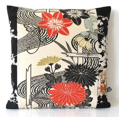 SOLD...Double Fronted Cushion in a Bold by BeccaCadburyDesign