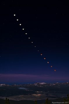 Dawn Lunar Eclipse Over Truckee, California by Grant Kaye Photography, via Flickr