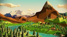 low poly landscape - Buscar con Google