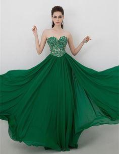 Resultado de imagen de vestidos de novia color verde esmeralda