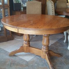 Oak table w/ leaves 48-72 in. We have some nice chairs to compliment .