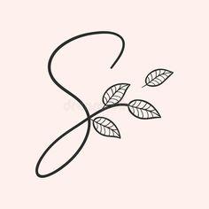 Handwritten Letters, Calligraphy Alphabet, Letter Vector, Love Logo, Little Flowers, Mini Tattoos, Monogram Logo, Logo Branding, Handwriting
