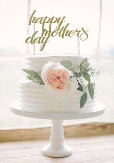 MOTHERS DAY CAKE TOPPER  Show your mom how special she is with this special topper!  The cake topper is hand crafted from premium quality
