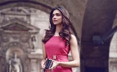 Download wallpapers Deepika Padukone, 4k, Indian actress, Bollywood, Indian fashion model, beautiful pink dress, brunette, Indian women