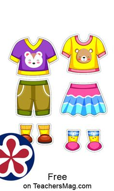 These summer clothes are perfect to put on paper dolls that you can find here on our website or your own paper dolls!