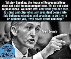 Trey Gowdy for Speaker. What a wonderful speech! Truth!