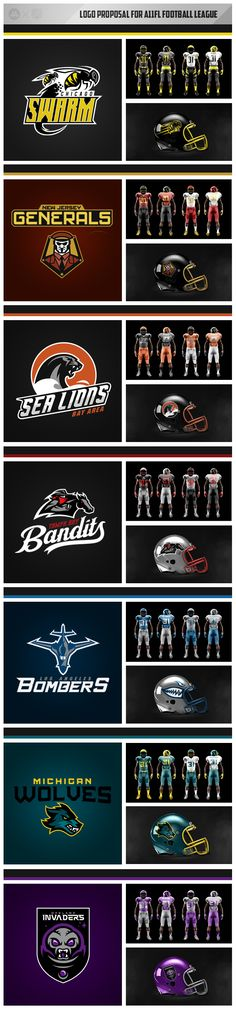 A11 Football League by Aurelien Mahaut, via Behance