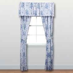 Blue Patterned Shower Curtains. @Overstock   Laura Ashley Sophia Cotton  4 Piece Drape Set   No One Does