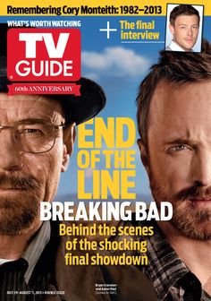 July 15/July 22, 2013. Bryan Cranston and Aaron Paul of Breaking Bad