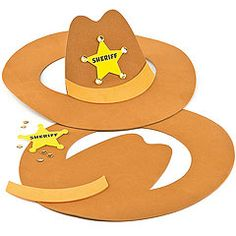 Terrific foam cowboy hats for young sheriffs to make