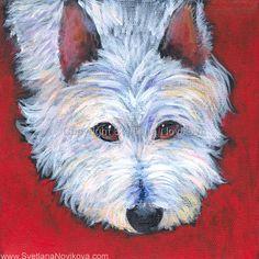 Westie dog art