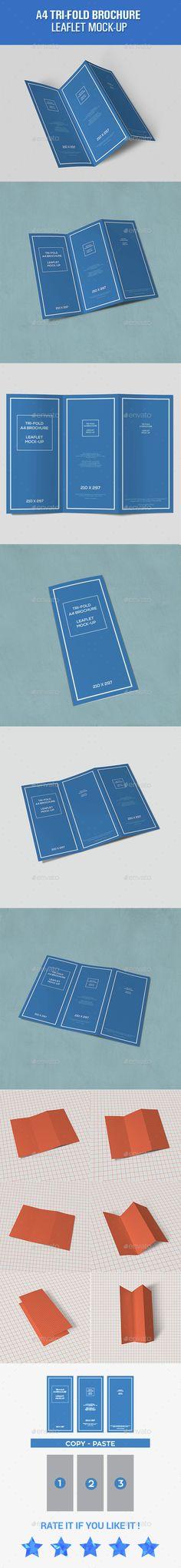 Tri-Fold Leaflet A4 brochure Mockups. Download here: http://graphicriver.net/item/trifold-leaflet-a4-brochure-mockups-/15461783?ref=ksioks