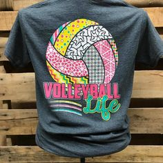 Southern Chics Volleyball Life Sports Girlie Bright T Shirt